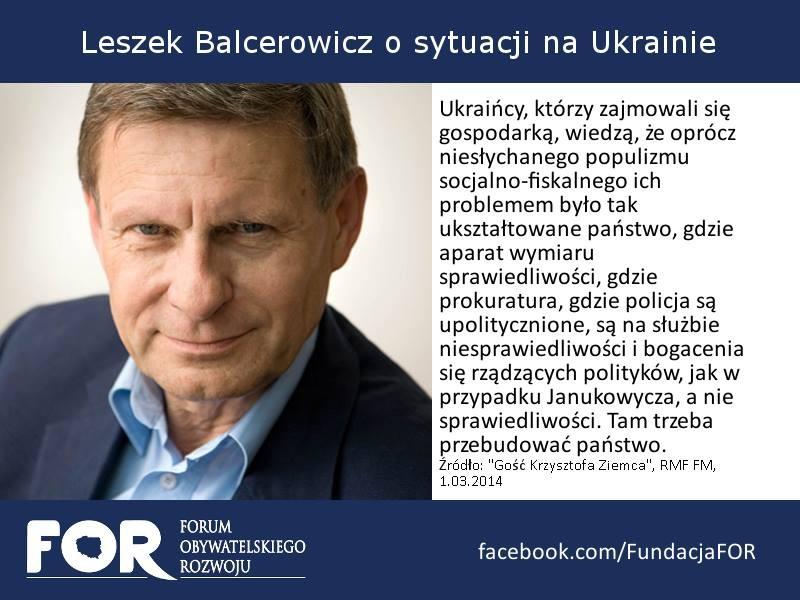Cytaty Prof Leszka Balcerowicza For